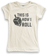 Urban Smalls Cream This Is How I Roll' Dreidel Tee - Toddler & Girls