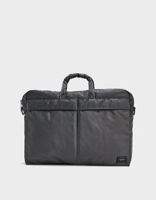 Porter Yoshida & Co. Tanker Small 2 Way Brief Case in Silver Grey