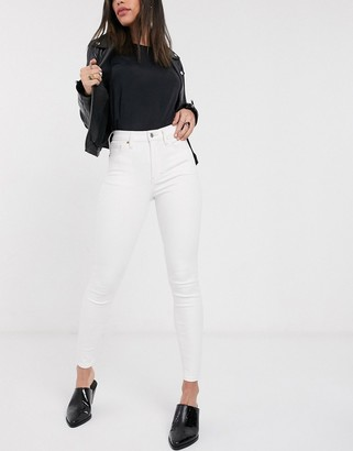 Topshop Jamie jeans in off white