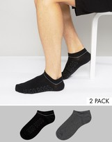 Boss Black By Hugo Boss 2 Pack Trainer Socks