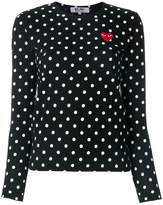 Comme des Garcons polka dot heart logo T-shirt