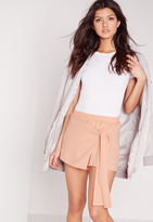 Missguided Wrap Over Skort Nude