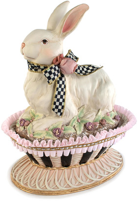 Mackenzie Childs MacKenzie-Childs Macaron Bunny Basket with Lid