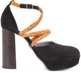 Ritch Erani NYFC braided strap pumps - women - Suede/Leather - 35