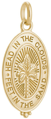 Mocha Palm Coin Charm w/ 18K Gold Vermeil