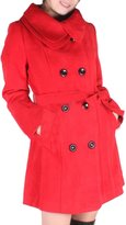 Hee Grand Women Wool Blends Coat Slim Trench Winter Coat