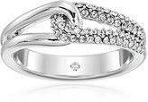 Kate Spade Pave Loop Clear/Silver Ring, Size 7