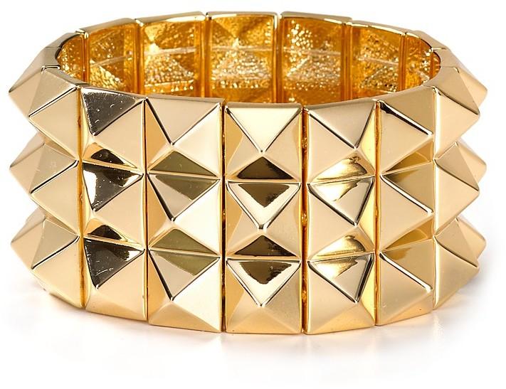 Noir Pyramid Spike Bracelet
