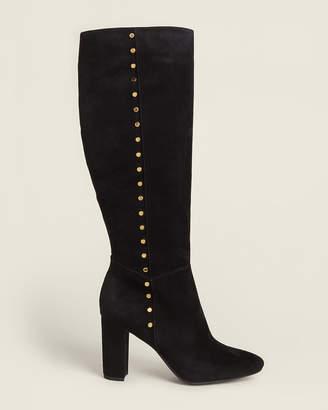 Lauren Ralph Lauren Black Atherton Tall Suede Boots