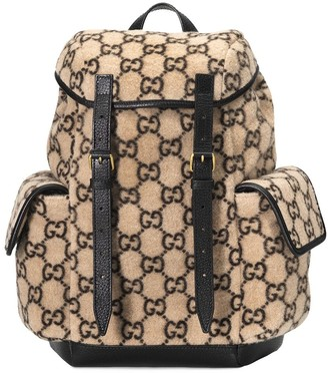 Gucci Monogram Print Backpack