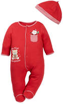 Little Me Santa Gift Footie & Hat (Baby Boys)