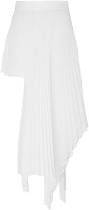 Peter Do Asymmetric Pleated Voile Skirt