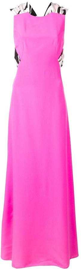 Emilio Pucci Sash Tie Maxi Silk Dress