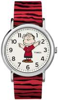 Timex Peanuts Linus Moving Hands Red Strap Watch