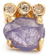 Jacquie Aiche Diamond, tanzanite & yellow-gold earring