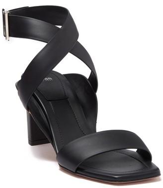 BOSS Linda Leather Strappy Block Heel Sandal