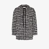 Faith Connexion hooded button-up tweed jacket