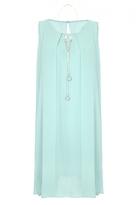 Quiz Aqua Chiffon Necklace Tunic Dress