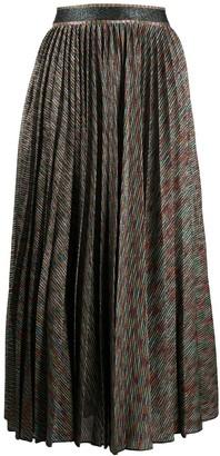 Missoni Pleated Striped Knit Skirt