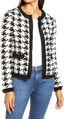 Halogen Marl Houndstooth Knit Jacket