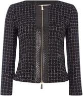Marella Nadar zip front check jacket