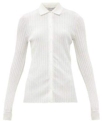 Gabriela Hearst Cavalieri Rib-knitted Wool Shirt - Ivory
