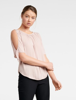 Ever New Simona Cold Shoulder Tie-Sleeve Top