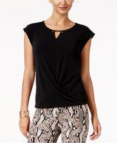 Thalia Sodi Draped Embellished Top, Created for Macy's