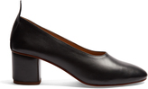 Joseph Block-heel leather pumps