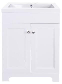 """Winston Porter Slemp 24"""" Single Bathroom Vanity Set Base Finish: Matte White"""