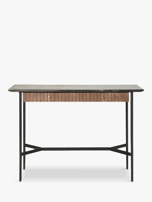 Gallery Direct Bari Marble Console Table, Black/Brown