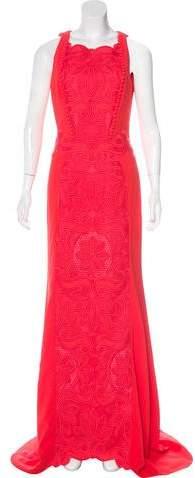 Antonio Berardi 2016 Embroidered Sleeveless Gown