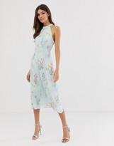 Ted Baker Pinkee lace insert midi dress in sorbet print
