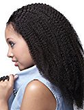 VVHair African American Hair Wigs Malaysian Remy Virgin Afro Curly Full Handtied Wigs with Baby Hair for African American Women Natural Black Color 20 Inch Small Cap Size