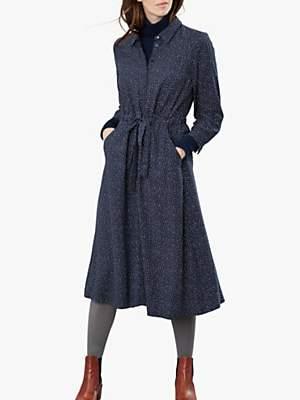 Joules Briony Long Sleeve Shirt Dress, Navy Star