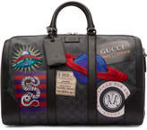 Gucci Black GG Supreme Patches Duffle Bag