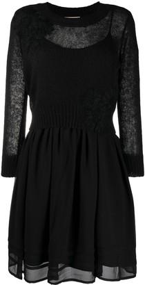 Twin-Set Knitted Sheer Dress