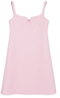 Gucci Short wool silk dress with Square G