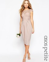Asos Wedding Lace Top Pleated Midi Dress
