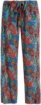 Etro Abstract floral-print silk trousers