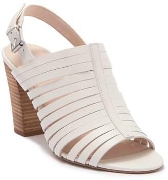 Tahari Makailyn Leather Block Heel Sandal