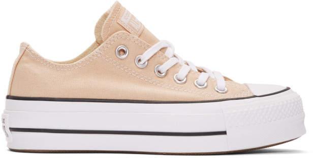 Converse Beige Chuck Taylor All Star Lift Platform Sneakers