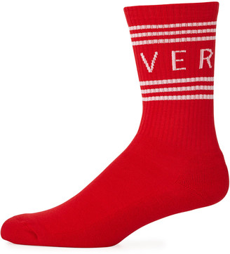 Versace Men's Athletic Band Socks