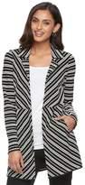 Dana Buchman Women's Striped Open-Front Jacket