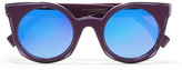 Fendi Cat-eye Acetate Mirrored Sunglasses - Purple