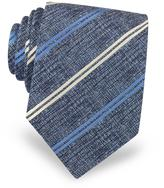 Forzieri Diagonal Stripe Woven Silk Men's Tie