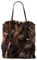 Michael Kors Fox Fur and Leather Tote