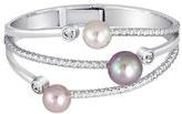 Majorica Women's Simulated Pearl & Cubic Zirconia Hinge Bracelet