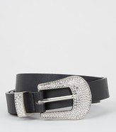 Thumbnail for your product : New Look Diamante Buckle Western Belt