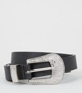 New Look Diamante Buckle Western Belt